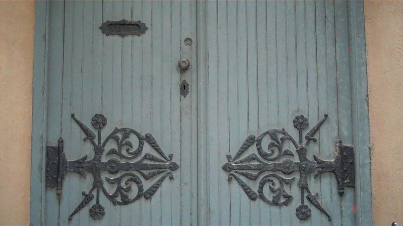 Church paper door